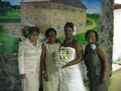 Teresita at nieces wedding with her sisters